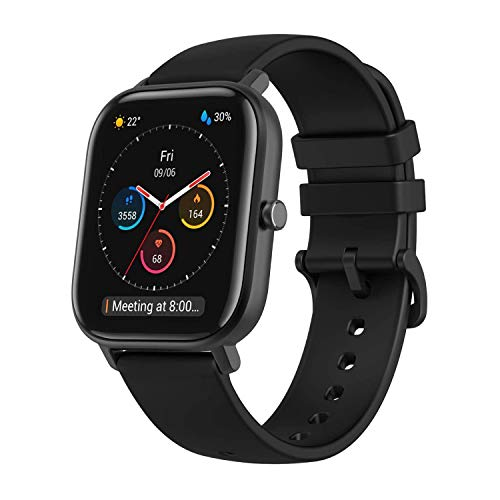 Amazfit Men's GTS Smartwatch, Black, Normal