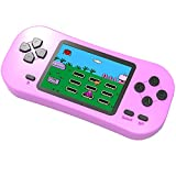 Douddy Kids Retro Handheld Game Console Built in 218 Old School Video Games 2.5'' Display USB Rechargeable 3.5 MM Headphone Jack Arcade Entertain System Children Birthday (Pink)