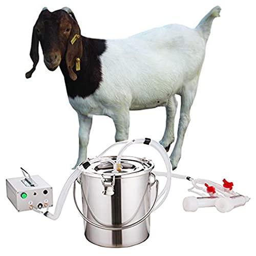 FARM LEAGUE Goat Milking Machine (7 Gifts),Pulsation Vacuum Pump Sheep Milker.Food-Grade Automatic 7L Goat Milking Machine,US Standard.(7L, Goat)
