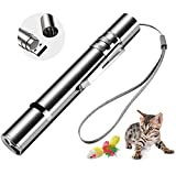 PPCAT Cat Light Toys Wand,Interactive Cat Toy for Indoor Cats Rechargeable with a Cute Mouse Toy,Exercise Pet Agility,3 in 1 Function,Pet Chaser Toy