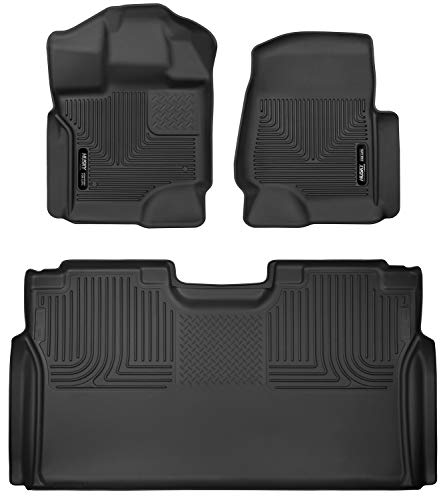 Husky Liners Fits 2015-20 Ford F-150 SuperCrew X-act Contour Front & 2nd Seat Floor Mats