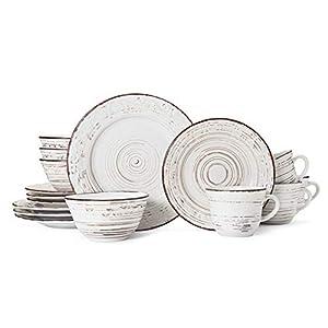 Pfaltzgraff 5217179 Trellis White 16-Piece Dinnerware Set, Service for 4
