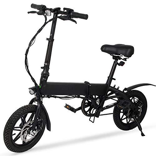 M MEGAWHEELS Vélo Électrique Pliant Ultra Légère 13,8KG 240W Batteri au Lithium 36V 15A Bicyclette VTT E-Vélo pour Ados et Adulte Mixte
