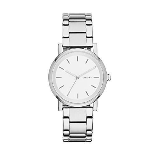 DKNY Damen Digital Quarz Uhr mit Edelstahl Armband NY2342
