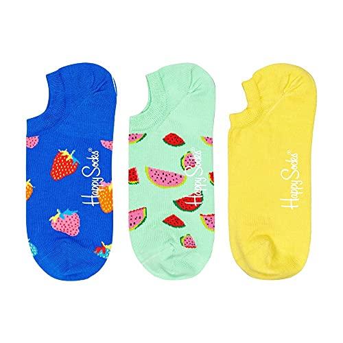 Happy Socks 3-Pack Fruit No Show Sock Calzini, Multi, S Donna
