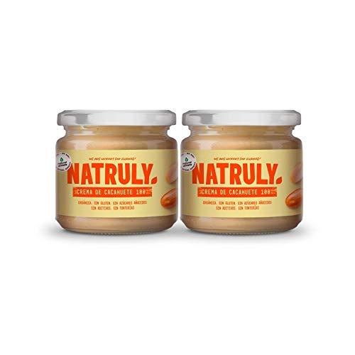 NATRULY Crema de Cacahuete Orgánica, 100% Mantequilla Cacah