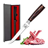 imarku Boning Knife, 6-Inch Fillet Knife with Razor Sharp High Carbon Stainless Steel and Pakkawood Handle for Meat and Poultry