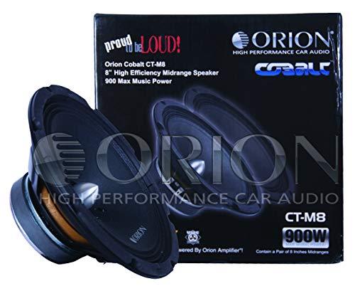 Orion Cobalt 8' Midrange 900 Watts Pair Packed, blk