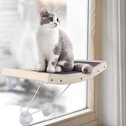 Hamaca de Gato para Ventana, con Rascador,con Ventosa, Resistente,  Soporta hasta 18kg