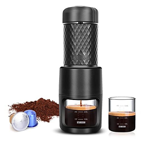 STARESSO Portable Espresso Machine - Manual Espresso with...