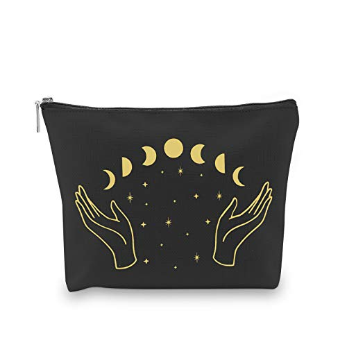 WCGXKO Moon Phase Zipper Pouch Bag for Tarot Cards Crystals...
