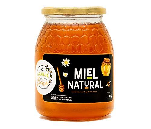 Miel de Abeja Pura, Miel de Mil Flores Natural de 1 Kg - 100 % Artesanal Recolectada de Colmenares Propios