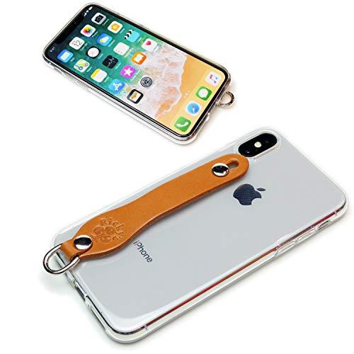 SGC タイプ iPhoneXS iPhoneX シンプルグリップケース2 ノーマルタイプ キャメル 【Ricky's】 iPhone XS X ケース アップル 10S 10 専用 カバー クリア シンプル apple リング ループ ベルト シリコン ハード モデル 栃木レザー 革 本革 天然皮革 リッキーズ