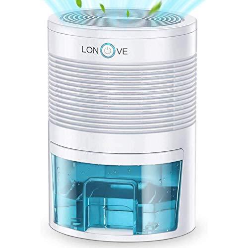 Luftentfeuchter Elektrischer Tragbarer Raumentfeuchter - 800ml Automatischer Entfeuchter leise Dehumidifier Kleine Luftentfeuchter für Schlafzimmer Badezimme Keller Schrank Büro Garage (Milchig)
