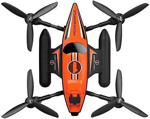 CYLYFFSFC Drone Spaziale Anfibio di Mare, Terra e Aria telecomandato, Mini Aereo acrobatico Giocattolo, Aereo ad Alta velocit Marittimo, terrestre e Aereo, Giocattoli Volanti all'aperto per Bambini,