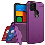 Teelevo Wallet Case for Google Pixel 4a 5G, Dual Layer Case with Card Slot Holder and Kickstand for...