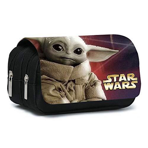 Star Wars Baby Yoda,Cutest in The Galaxy Pencil Case,Unisex Astuccio per Matite a Colori di Grande Capacit,Borsa per Matite di Borsa,20 * 10 * 7.5cm