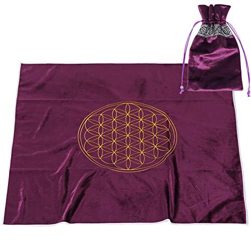 BLESSUME Altar Tarot Card Table Cloth with Tarot Bag...