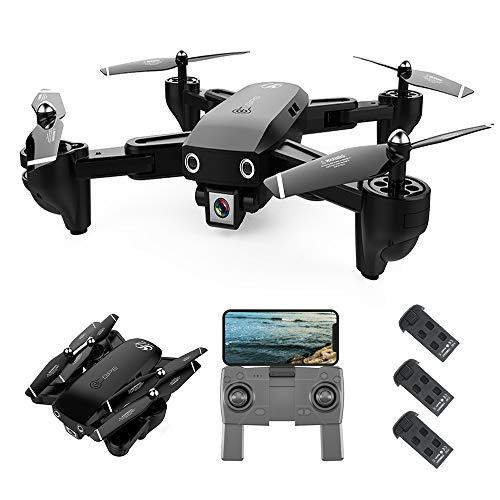 Mobiliarbus RC Quadcopter S166 GPS Drone con Telecamera 1080P Seguimi Ritorno Automatico Home WiFi FPV Foto di gesta Video Live RC Quadricottero per Adulti