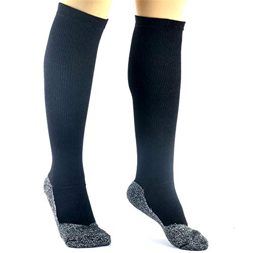 35 Degrees Compression Socks - 2 Pairs in Black, 2-IN-1 Compression &...