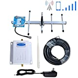 Phonelex Verizon Cell Phone Signal Booster Amplifier 4G LTE 700Mhz Band13 Cell Signal Booster Wireless Verizon Mobile Phone Signal Booster Amplifier Repearter with Whip +Yagi Antennas Kits Home Use