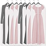 Adalite Hanging Garment Bag Lightweight Moth-Proof Breathable Clear Suit Bags Full Zipper 8 Pack Dust Proof and Water Proof Garment Covers Dress Garment Bags for Storage and Travel 24x54 ins