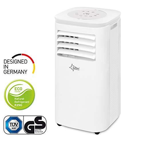 Mobiles lokales Klimagerät Impuls 2.6 Eco R290 | für Räume bis 80 m3 (34 m2) | inkl. Abluftschlauch | Kühler und Entfeuchter mit ökologischem Kühlmittel R290 | 9.000 BTU/h, EEK A | Suntec Wellness