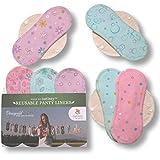 Natissy Salvaslips de tela reutilizables, 7-Pack Protege...