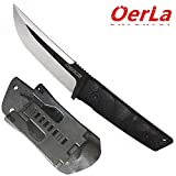 Oerla TAC WS-0018 Small Warrior Series Fixed Blade Knife 420HC Stainless Steel Field Knife Camping Knife with G10 Handle Waist Clip EDC Kydex Sheath