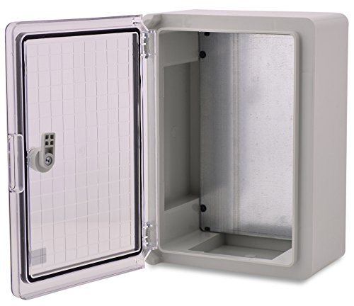 BOXEXPERT Quadro elettrico a parete scatola armadio 350x250x150mm IP 65 grigio RAL7035 trasparente...