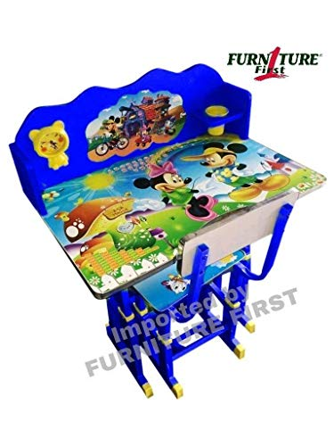 FURNITURE FIRST American Frozen NX Team Kids Study Table & Chair Set for Kids (3-10 Years) ) Colour - BLUE)