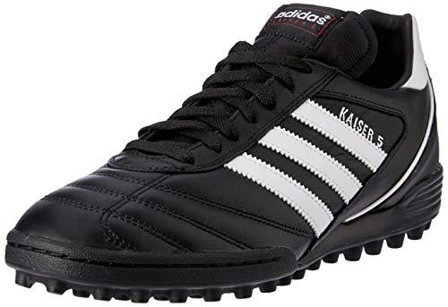 Adidas Kaiser 5 Team   Turfvoetbalschoen voor heren   Buitenkant van soepel en zacht leer   Anatomisch gevormde binnenzool   PU buitenzool met kleine rubberen noppen   Voor kunstgras en turfvelden   Kleur: Zwart/wit