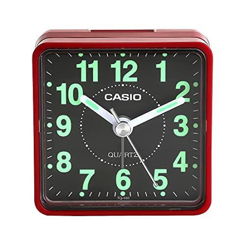 Casio Analog Table Clock (TQ-140-4DF, 5.7 x 5.7 x 33 cm)