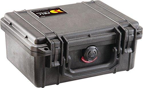 PELI Box 1150 - Maletín de plástico con aislante de espuma, negro