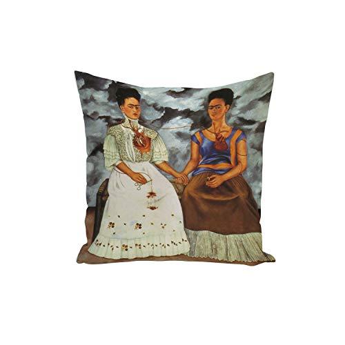 Fabulous Funda de Cojín Frida Pintura del Artista Original del Art 4 40x40cm