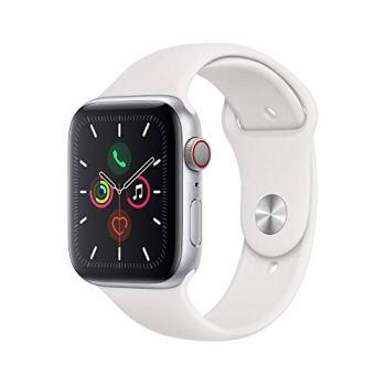 AppleWatch Series5 (GPS + Cellular, 44 mm) Boîtier en Aluminium Argent - BraceletSport Blanc