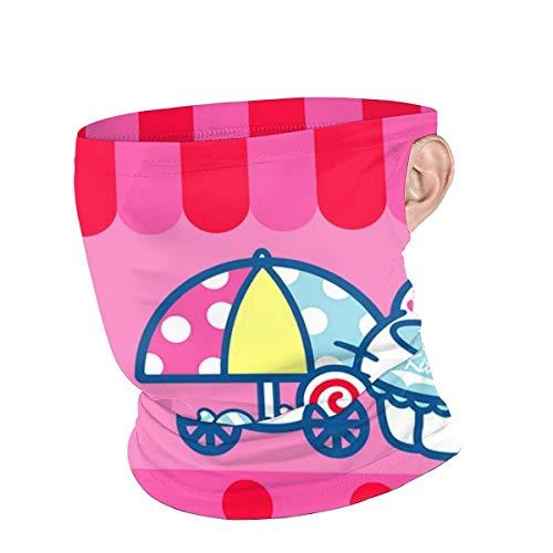 Neck Gaiter Balaclava Bandana Headwear - Hello Kitty Baby Shower Sports Face Scarf Face Cover for Dust Outdoor Black