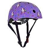 Kiddimoto, casco per bambini, completamente regolabile, per ciclismo, scooter, bici da equilibrio, skateboard, KMH099M, Unicorno., M (53-58cm)