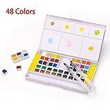 LAOYE Peinture Aquarelle Professionnelle 48 Couleurs-Palette pour...
