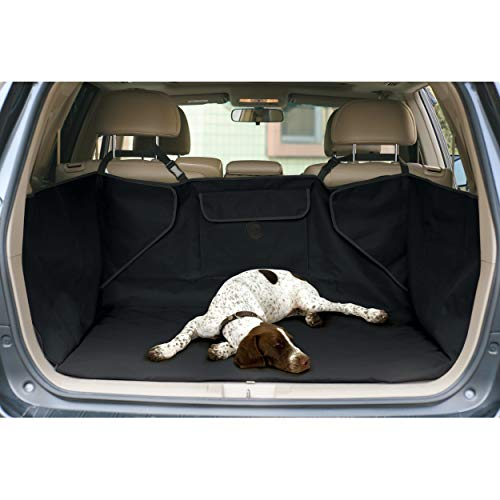 K&H PET PRODUCTS Quilted Cargo Cover Black Standard/Mid-Size Vehicle 54 Inches