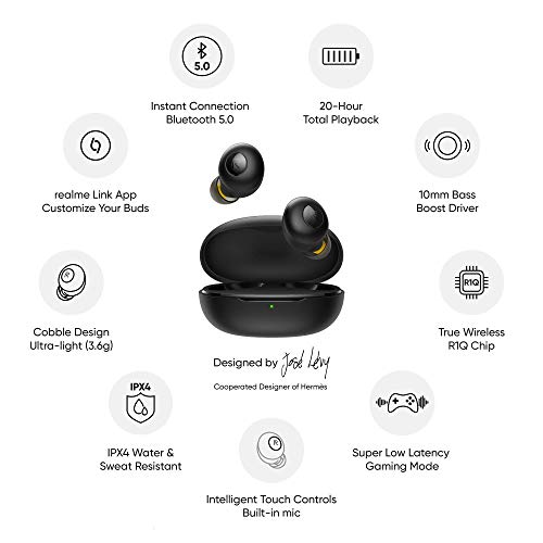 (Renewed) realme Buds Q in-Ear True Wireless Earbuds (Black) 5