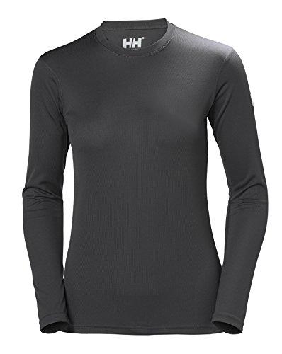 Helly Hansen HH Tech Crew Camiseta Deportiva Manga Larga, Mujer, Ebony, S