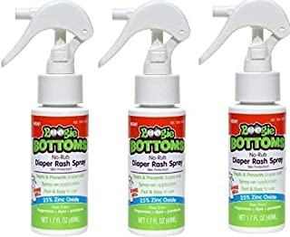 Sponsored Ad - Baby Diaper Rash Cream Spray by Boogie Bottoms, No-Rub Touch Free Application for Sensitive Skin, Over 200 ...