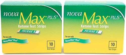 Nova Max Ketone Test Strips 10 ct - Pack of 2 Boxes