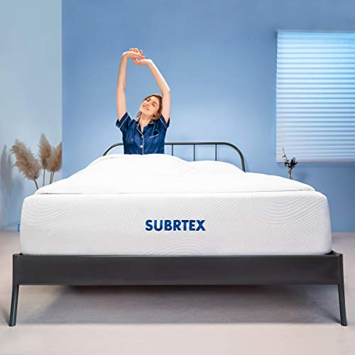 Subrtex 12 Inch Full Mattress Gel Memory Foam Mattress with Removable Soft Cover Thick Breathable Full Body Support Cooling Mattress Pad CertiPUR-US Bed in A Box-10 Year Warranty (Full, 12-inch)