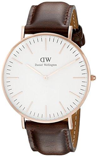 Daniel Wellington Herren-Armbanduhr Analog Quarz Leder DW00100009
