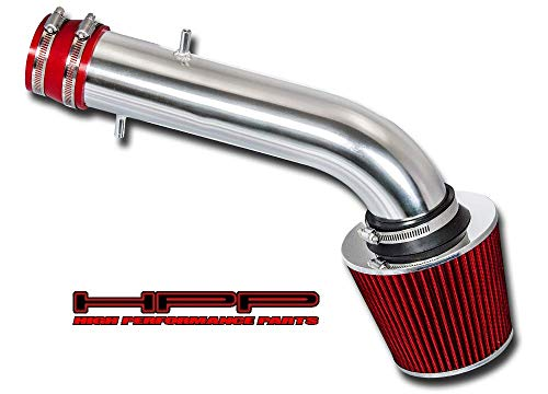 High Performance Parts Short Ram Air Intake Kit & Red Filter Combo Compatible for 1995-2002 Honda Accord V6 Engine