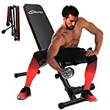 Weight Bench Adjustable Workout Bench Press for Home Gym,VIGOPKA Strength Training Benches Foldable Flat Incline Decline Exercise Bench for Full Body Workouts Hold Up To 760LBS
