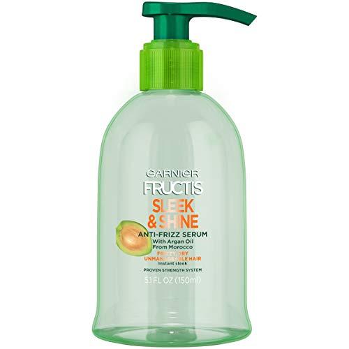 Garnier Fructis Sleek & Shine Anti-Frizz Serum, Frizzy, Dry, Unmanageable Hair, 5.1 fl. oz.