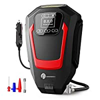 FAST INFLATION IN SECONDS: TIREWELL 200 PSI TW-1566 digital air compressor is designed to inflate your standard car tires in seconds; a great solution for emergency air refilling on the way. Plug it into the 12V power outlet in your car and attach th...